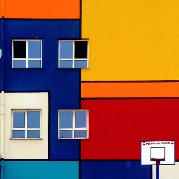 A public school in Pendik district. Photography © by Yener Torun. Click above to see larger image.