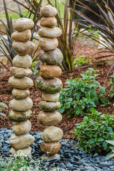water feature with a difference try this gravity defying stone stack it looks