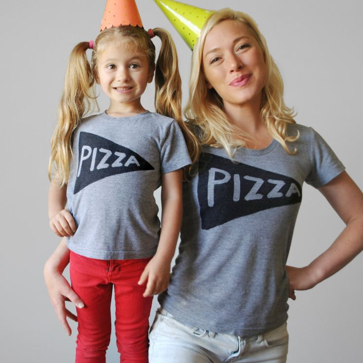 Mommy and me shirts, Matching Pizza shirts, twinning outfit, matching mother daughter gifts for mom funny gift for wife, graphic tees by Xenotees on Etsy https://www.etsy.com/listing/98175569/mommy-and-me-shirts-matching-pizza