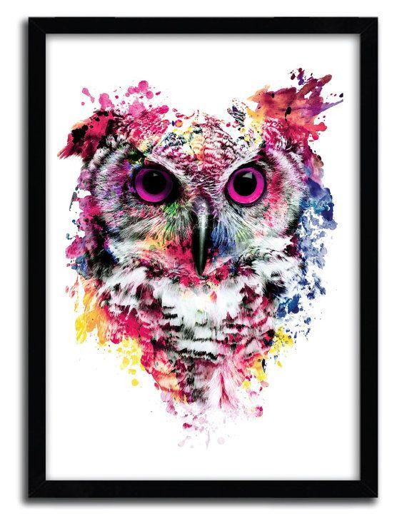 Print Owl by Riza Pekler