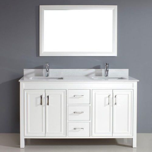 Corniche 60u201d White Double Sink Vanity By Studio Bathe   Costco
