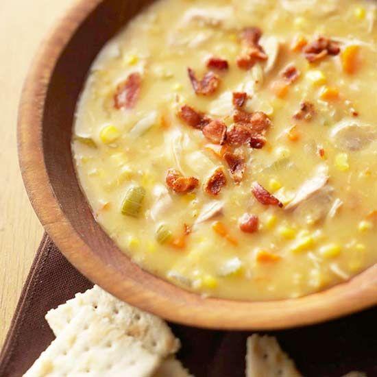 Creamed Chicken & Corn Soup