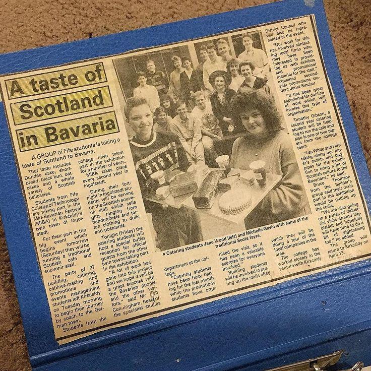 #tbt #turnbackthursday #newspapercutting #paper #fifecollege #kirkcaldy #ingolstadt #1989 #bavaria #photoaday365 #2017photoaday365 #15thJune2017 #photochallengeDMR #day166of365 #scotland #twintown Photos from my travels