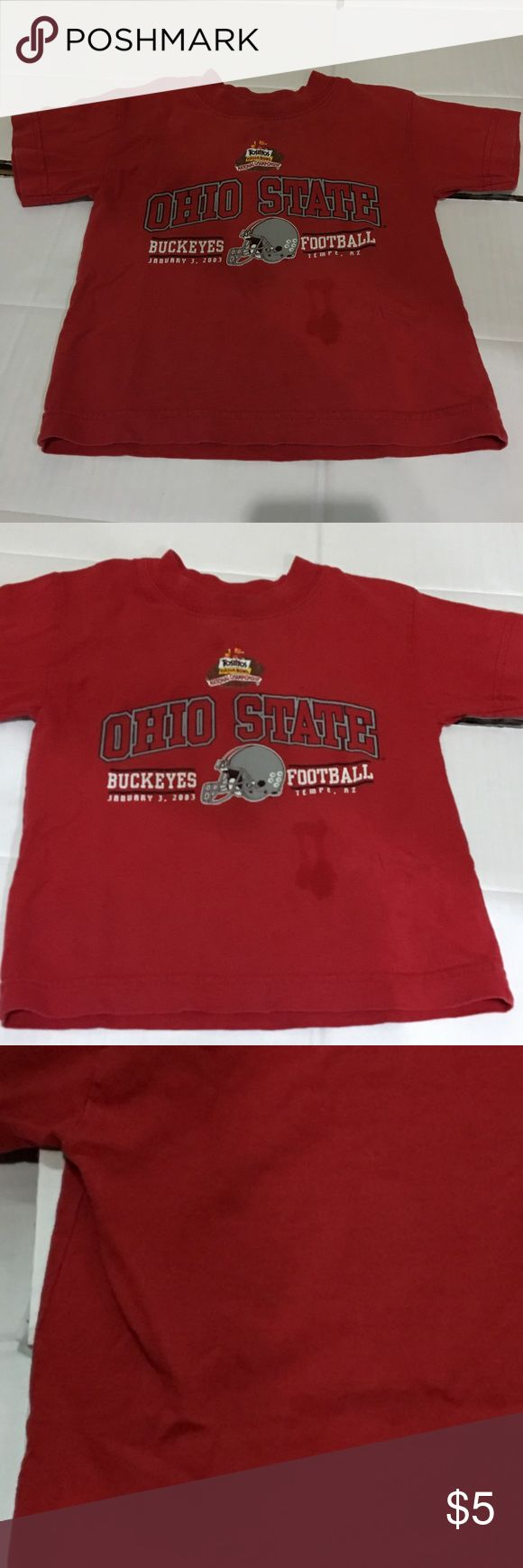 Ohio State National Championship T-Shirt 2003 Fiesta Bowl National Championship T-Shirt Size 4, has a stain under the graphic Minor, unnoticeable stain on the back See pictures Bundle multiple items and pay for shipping once Ohio State Shirts & Tops Tees - Short Sleeve