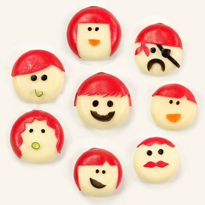 Cheesy Chums by familyfun: Great after school snack. #Cheese #Kids #Snack #familyfunDresses Up, Babybel Cheese, For Kids, Belle Peppers, Kids Snacks, Clever Ideas, Snacks Ideas, Food Recipe, Clever Food Ideas