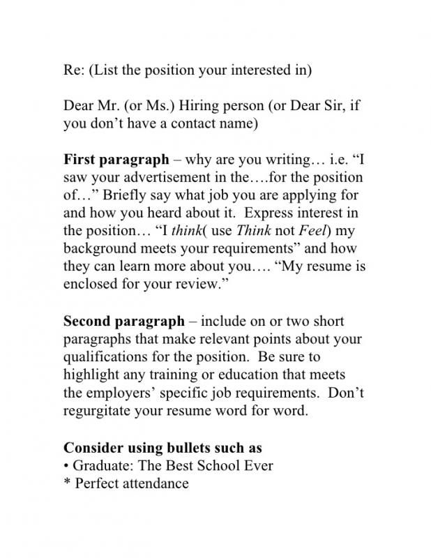 Sample Email To Hiring Manager Cover Letter For Resume Writing A Cover Letter Perfect Cover Letter