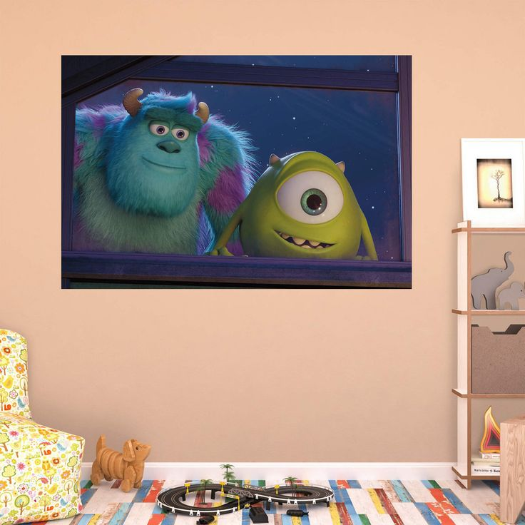 Fathead Monsters Mike and Sulley Window Wall Mural - 74-74589