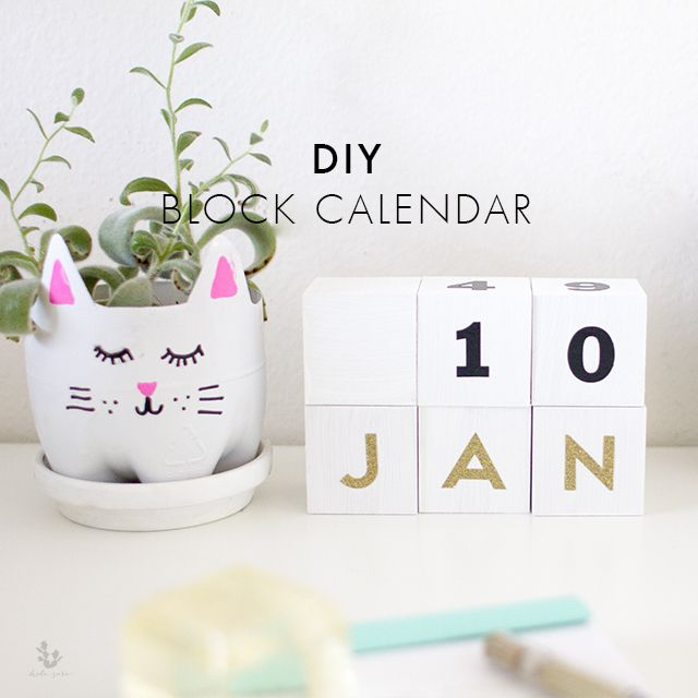 Calendar Blocks Diy : Hola amigos i hope everyone had wonderful new year s