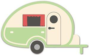 Silhouette Online Store - View Design #9848: caravan camper