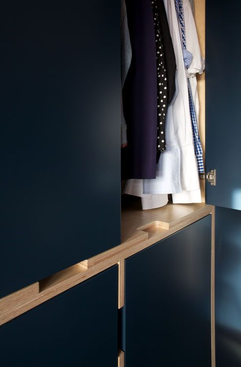 Uncommon Projects. Columbia Road - Plywood Dressing Room and Study