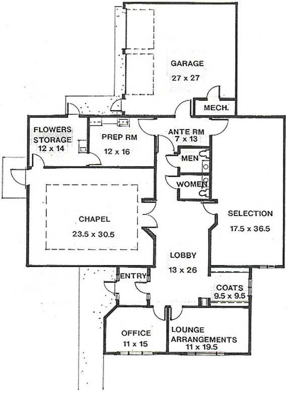 Funeral home floor plans gurus floor - Funeral home designs ...