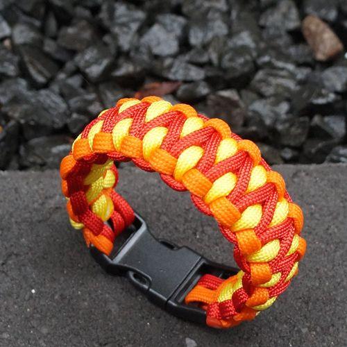 Orange Dragon Paracord Survival Bracelets