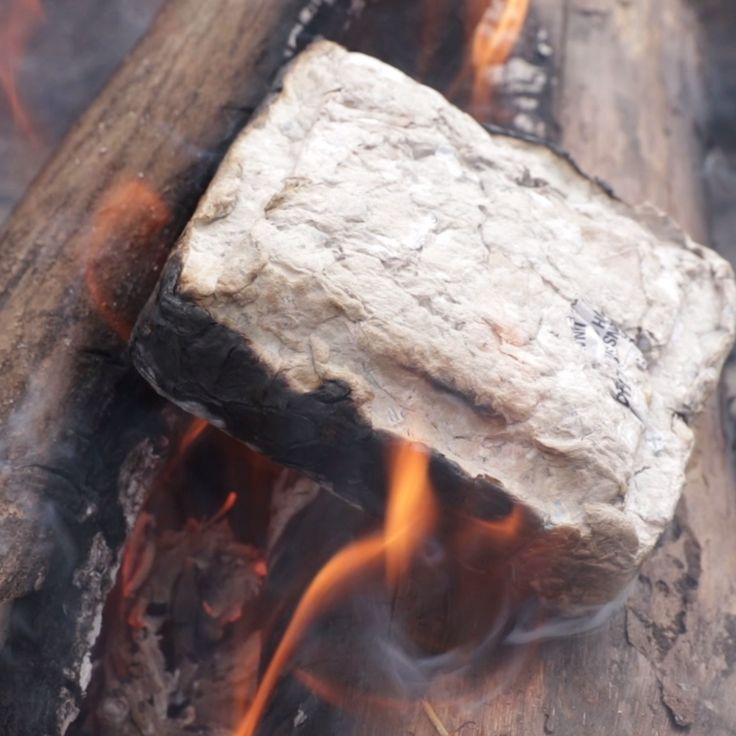 Recycled Paper Fire Logs // #fire #recycled #outdoors #campfire #Nifty