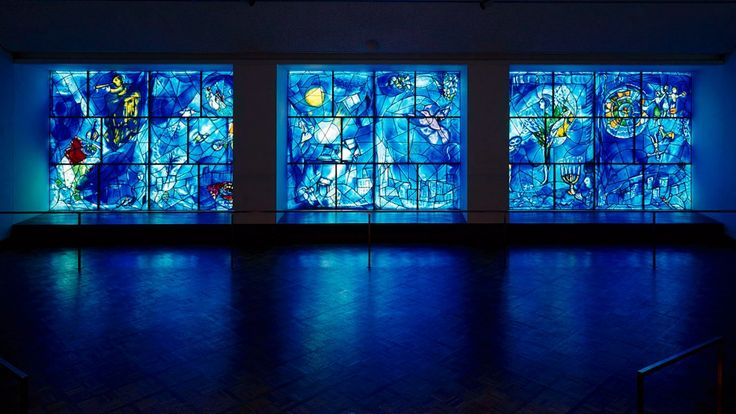 Marc Chagall's stained glass windows, Art Institute of Chicago. LOVE. I could sit and stare for hours.