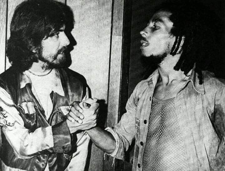 George Harrison And Bob Marley Foto Musica Fotos De Bob Marley