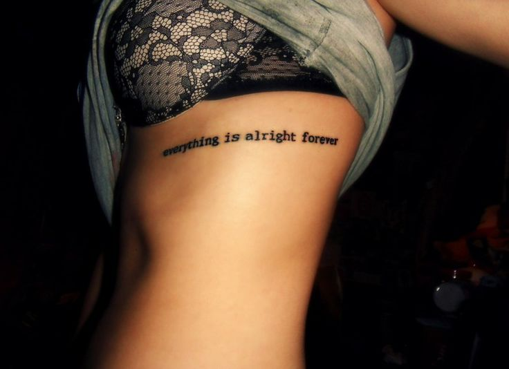 Girls Rib Tattoo Design