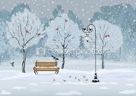 Ptaki w parku — Ilustracja stockowa #57762833