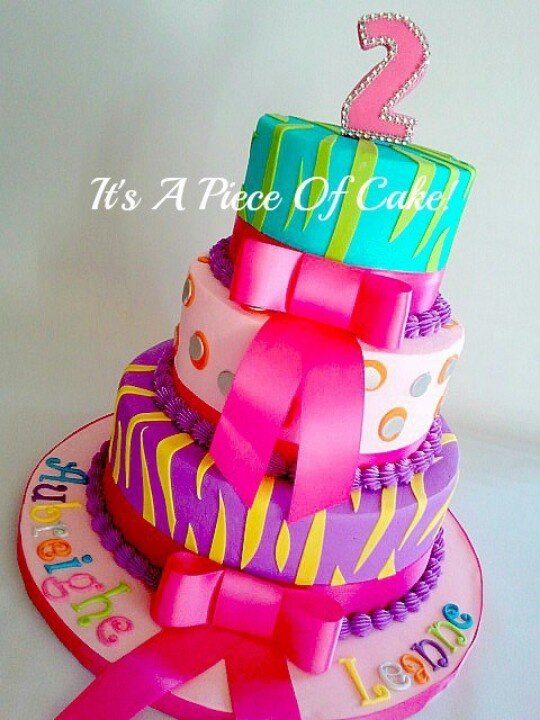 Cute and colorful birthday cake!