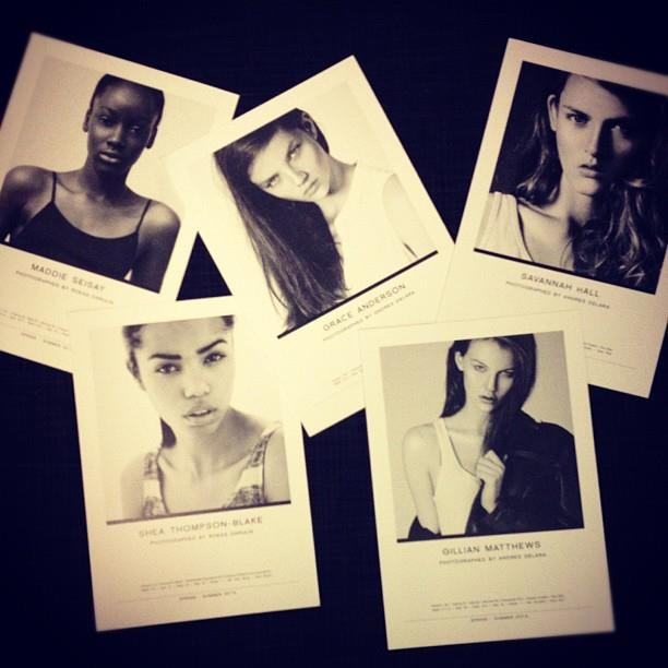 So proud of this year's Elite Model Look girls and their show cards!