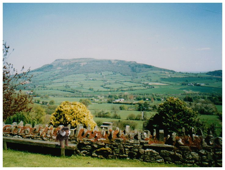 The view from Tyn-Y-Bryn, the Bed-and-Breakfast the Ryan family stays at in Abergavenny, Wales.