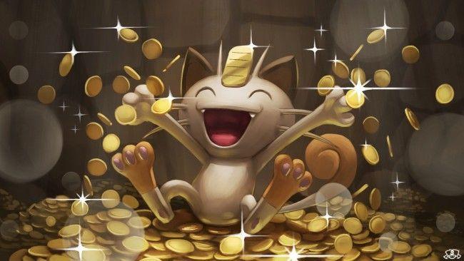 Wallpaper Meowth Pokemon Golds Happy Smiling Wallpapermaiden Gold Pokemon Pokemon Anime Wallpaper