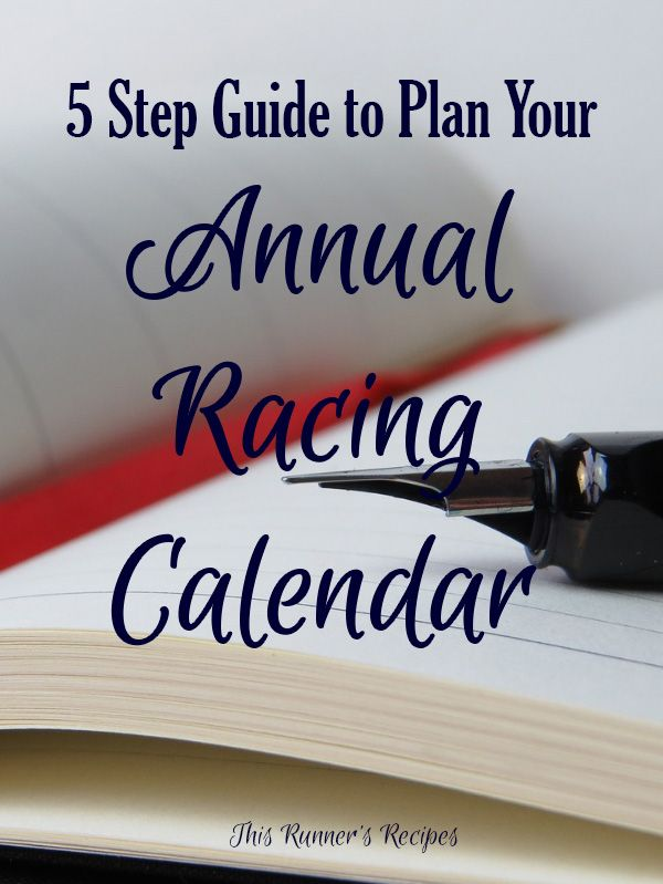 5 Step Guide to Planning Your Annual Racing Calendar