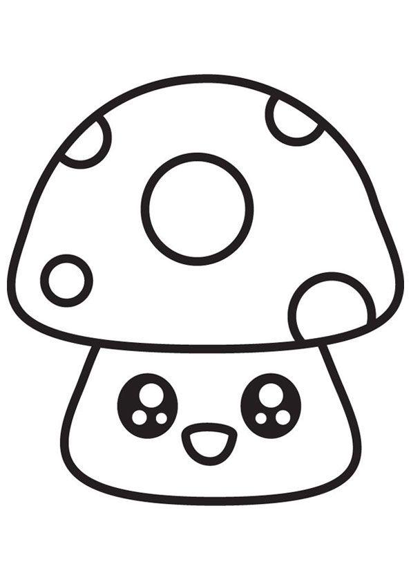 Cute Mushroom Coloring Page In 2021 Coloring Pages Indie Drawings Indie Kids
