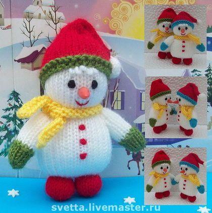 """""""Малыши Снеговички"""" вязаные игрушки"""