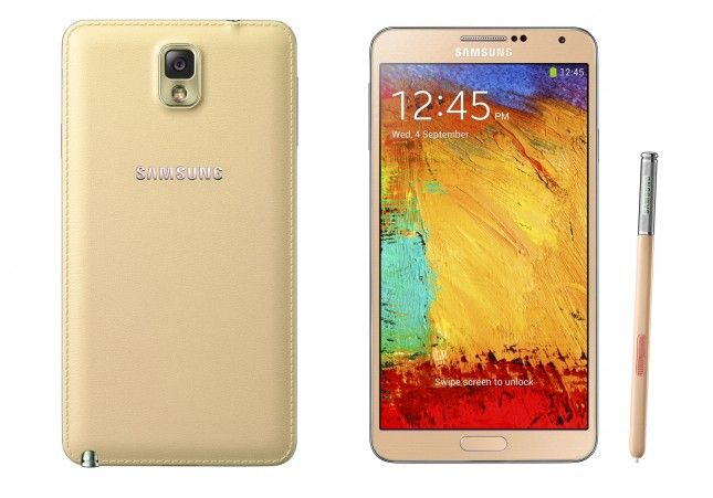 The New Color Of Samsung Galaxy Note 3: Red And White Gold