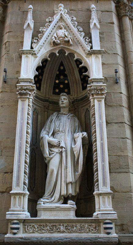 orsanmichele.  Saint Philip by Nanni di Banco
