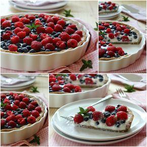 Crostata ai frutti di bosco con yogurt