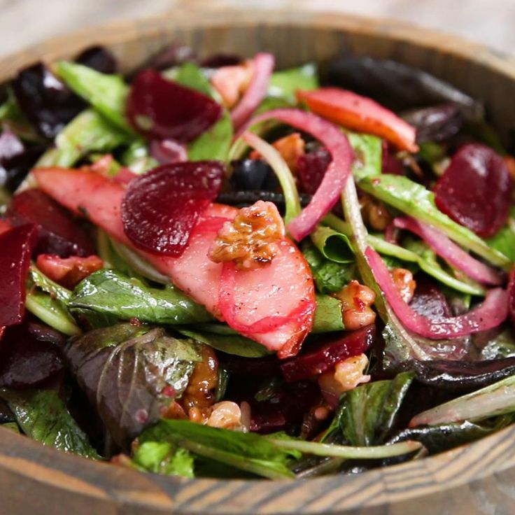 Beet And Pear Salad With Lemon Vinaigrette Recipe by Tasty