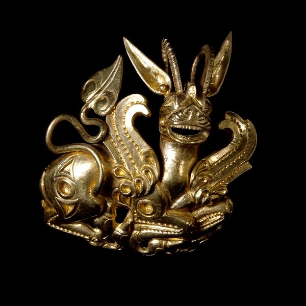 Ornament in the form of a griffin-lion. Achaemenid Persian. 5th-4th century BC