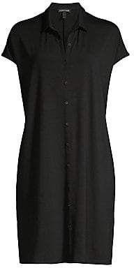 Eileen Fisher Women's Classic Collar Shirtdress 5