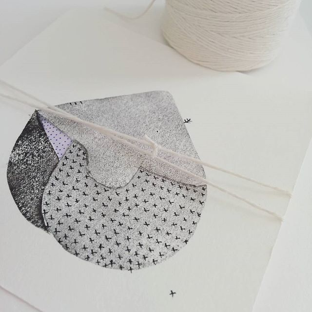 Testing a new print on my valentine. xx #printmaking #cards #valentines