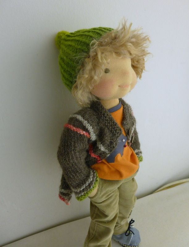 "Inspiration for Waldorf-style doll I will be making for Baby Stang when he is a toddler-j. 19"" waldorf boy doll"