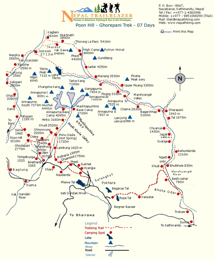 a better Annapurna circuit map