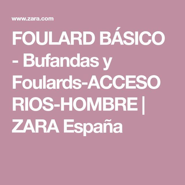FOULARD BÁSICO - Bufandas y Foulards-ACCESORIOS-HOMBRE | ZARA España