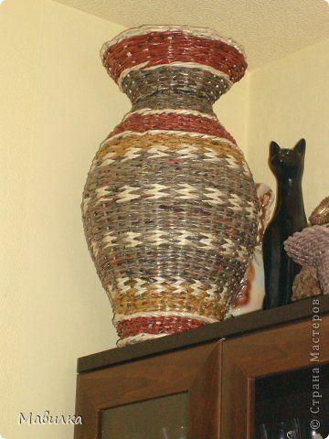 Поделка изделие Плетение Моя ваза первая овальная шкатулка и первый декупаж Бумага газетная Салфетки фото 1