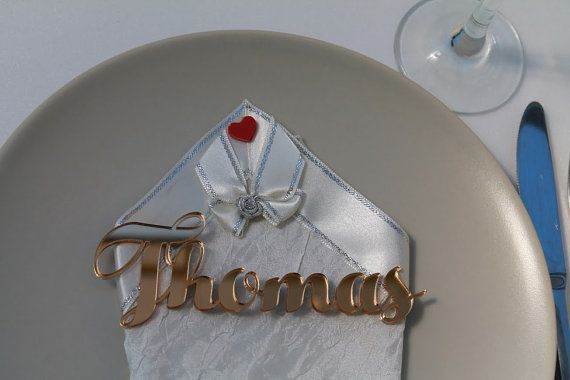Laser Cut Names Acrylic Place Cards Custom by FranJohnsonHouse