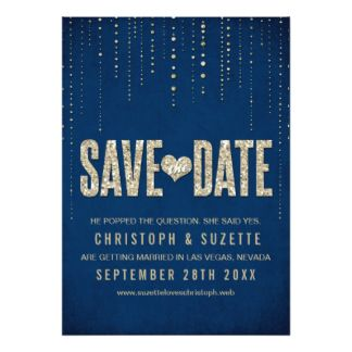 save the date cards blush pink, gold and navy - Google Search