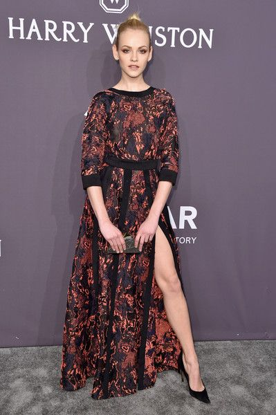 Model Ginta Lapina attends the 19th Annual amfAR New York Gala at Cipriani Wall Street on February 8, 2017 in New York City.