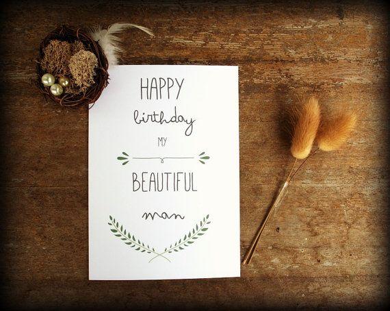 Digital Birthday card - Boyfriend Card - Boyfriend Birthday - Husband Birthday - DIY print