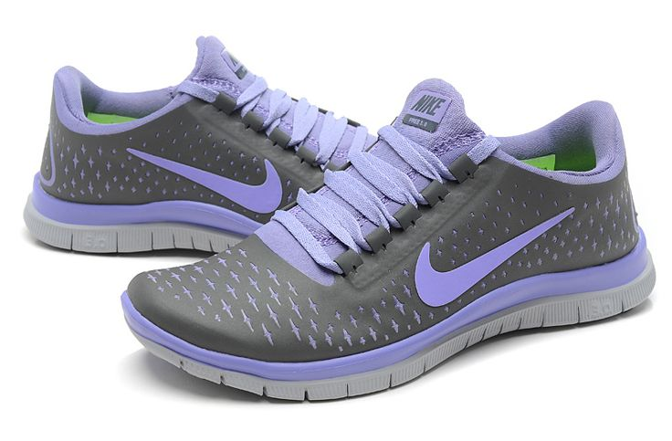 Nike Free 3.0 V4 Womens Nano Grey Light Purple 050 #Purple #Womens #Sneakers