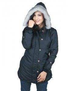 jaket wanita murah berbahan parasut warna hitam berbulu | tokofobia.com toko fashion online murah dan berkualitas
