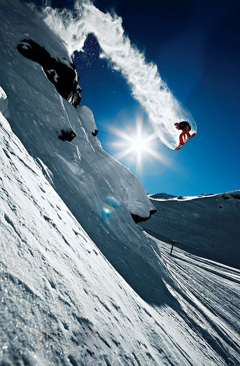 Snowboarding...so high!