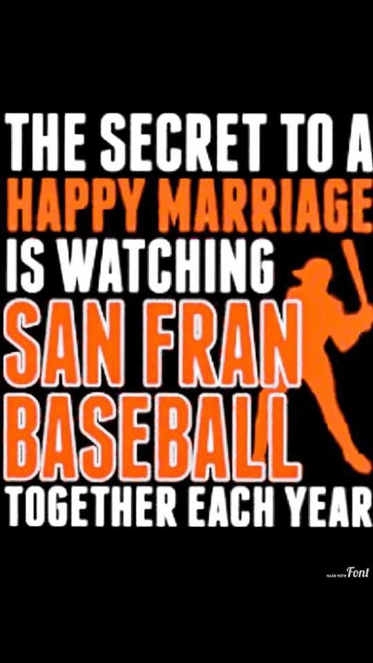 I'm a bigger fan than my husband, though.. When Bumgarner pitches, I'm not leaving the house... The hubs gets irritated sometimes!! Oh well! Go Giants!!