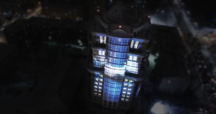 3D mapping at the presentation of new house on the Voznesenskaya st. Perm  #mapping #videoproject #3dmapping #videomapping