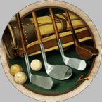 Lovely sandstone coasters for the golf lovers