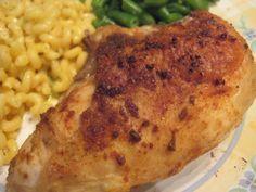 Basic Split Chicken Breast recipe ... easy but moist and tasty.